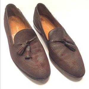 10 D Salvatore Ferragamo tassel Loafers pebbled
